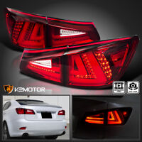 For Lexus 2006-2008 IS250 IS350 Red Tint Lens Full LED Rear Tail Brake Lights