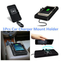 Portable Car Wireless Charger Dashboard Silicone Non-Slip Holder Pad For Samsung