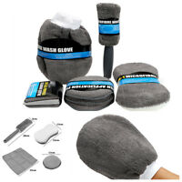 9Pcs Car Wash Cleaning Care Include Wash Sponge Wash Glove Wheel Brush Kit Gray