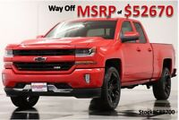 Chevrolet Silverado 1500 MSRP$52670 4X4 2LT Z71 Leather Red 4WD New Heated Bench  Seats GPS Navigation All Star Double Ext Cab 5.3L 18 17 2017