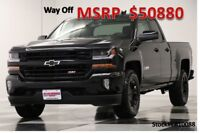 Chevrolet Silverado 1500 MSRP$50880 4X4 Z71 2LT GPS Midnight Double 4WD New Navigation Heated Leather Seats Bluetooth Camera Edition 5.3L V8 17 2017 18