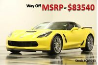 Chevrolet Corvette MSRP$83540 Grand Sport 3LT GPS Yellow Coupe New GS Heated Cooled Black Leather Seats Navigation Camera Auto 16 17 2017 18 V8