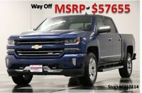 Chevrolet Silverado 1500 MSRP$57655 4X4 LTZ Z71 Leather GPS Blue Crew 4WD New Navigation Heated Cooled Leather Cab 20 Inch Chrome 5.3L Camera 17 2017 18