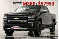 Chevrolet Silverado 1500 MSRP$57950 4X4 LTZ Z71 Blacked Out Sunroof Crew 4WD New Navigation Heated Cooled Leather GPS Black Cab Camera 5.3L V8 17 2017 18