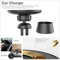 Portable Mini Car Wireless Charger Air Outlet Charging Stand Magnetic Connection