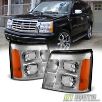 2002 Cadillac Escalade Base / Ext Replacement Headlights Headlamps Left+Right 02