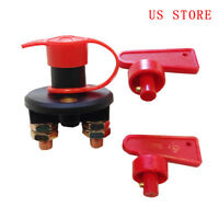 Auto Car Boat Truck Battery Disconnect Power Cut Off kill switch 2 Keys 12V/24V