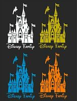 DISNEY FAMILY CASTLE CAR WINDOW DECAL...2 FOR 1 PRICE..PICK YOUR SIZE