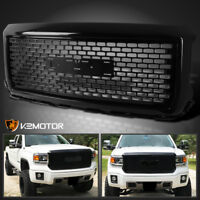 2014-2015 GMC Sierra 1500 1 PC Style ABS Glossy Black Front Mesh Hood Grille