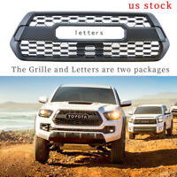 Fits for Toyota Tacoma TRD PRO 2016 2017 Front Grill grille bumper Matte Black