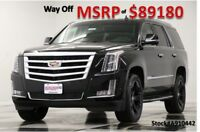 2019 Cadillac Escalade MSRP$89180 Luxury 4WD Black Remote Start Camera New 4WD Sunroof 22 In Wheels Heated Cooled Leather GPS DVD Luxury 18 2018 19