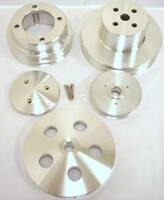 Oldsmobile 4 Pulleys & Nose Cover Double 2 1 Groove Aluminum Set 350 455 Olds V8