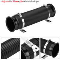 3 Inch/76mm Universal Car Cold Air Intake Inlet Pipe Flexible Duct Tube Hose Kit