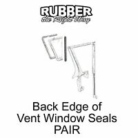 1957 1958 Ford & Edsel Back Edge of Vent Window Seals - PAIR