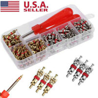 242pcs/set Car A/C Air Conditioning R134a Valve Cores + Remover Tool Kit US