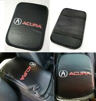 For JDM ACURA Racing Carbon Car Center Console Armrest Cushion Mat Pad Cover X1