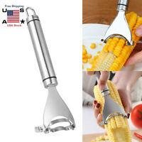 Stainless Steel Corn Cob Peeler Stripper Cutter Remover Kitchen Kernel Tool Best