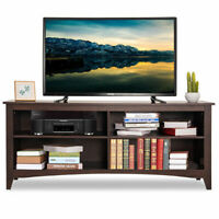 58'' TV Stand Entertainment Media Center Console Wood Storage Furniture Espresso