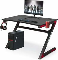 Computer Gaming Desk with Cup Holder for Home or Office, Gaming PC Desk Table