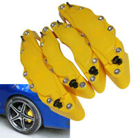 2Pairs ABC Yellow Car Front & Rear Disc Brake Caliper Covers Universal Parts Kit