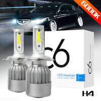 COB H4 LED Headlight Kit Light Bulbs Hi/Lo Beam 6000K 9003 HB2 100W 20000LM