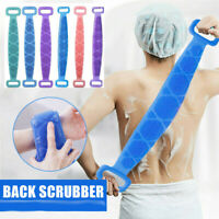 Silicone Back Scrubber Body Cleaning Tools Bath Belt Massage Brush Dual Sided
