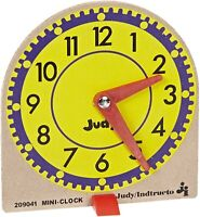 Judy Instructo Mini-Clock Home School Supplies Educational Tell Time. Play Learn