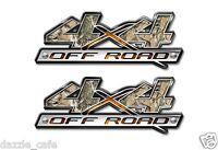 4X4 OFF ROAD Truck Graphics Camo Camouflage w Skull Decal 2 pack a003bl