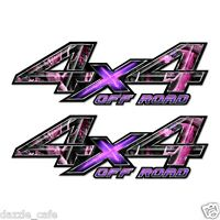 4X4 OFFROAD Truck Bed Pink Camo Graphic Decals (2 pack)   a002OR