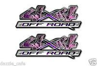 4X4 OFF ROAD Truck Camo Pink Tall Grass Decal (2 pack  a010bl