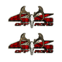 4X4 BUCK OFFROAD Truck Camo Camouflage Graphic Decal Sticker set 2 pack a001BU