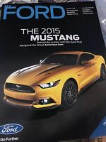 2015 FORD MUSTANG MODEL INTRODUCTION MYFORD DEALER PROMO MAGAZINE BROCHURE RARE