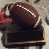 SMALL FOOTBALL TROPHY DESKTOP PAPERWEIGHT DECORATION 3 INCHES TALL NEW