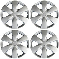 Hubcaps fits 09-12 Toyota Yaris - 15 Inch Silver Replacement Wheel Cover Rim
