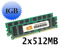 1GB (2x512MB) RAM Memory Compatible with Dell Dimension 2300C Desktops DDR1