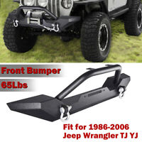 Front Bumper Winch Plate D-Ring Rock Crawler for 1986-2006 Jeep Wrangler TJ YJ