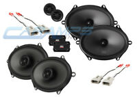 NEW MTX THUNDER CAR/TRUCK STEREO FRONT AND REAR COMPONENT SPEAKER SET W WIRING