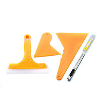 5in1 Car Auto Window Tint Scraper Squeegee Wrapping Vinyl Film Cleaning Tool Kit