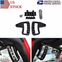 Black Aluminum Grab Bar Front Grab Handle for Jeep Wrangler JK JKU 2007-2017