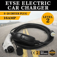 Electric Car Charger 6-20 Plug Level 2 Charger Vehicle Charger 23 Long EVSE