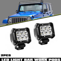 2X 4INCH CREE LED WORK LIGHT BAR FOR OFFROAD TRUCK JEEP REVERSE SUV 4X4 FOG LAMP