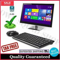 Wireless Keyboard And Mouse Combo Bluetooth Computer Cordless PC Laptop Desktop