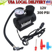 Tire Inflator Mini Car Air Pump Compressor Electric Portable Auto 12V DC 300 PSI