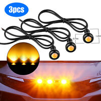 3pcs LED Amber Grille Lighting Kit Universal Fit Truck SUV Ford SVT Raptor Style