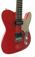 Effin Guitars OldSmelly/FRD Fiesta Red Finish Deluxe Electric Guitar