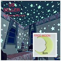 40-100Pcs Stars Glow In The Dark Stickers Wall Decal Kids Baby Bedroom Luminous