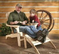 Adirondack Outdoor Solid Wood Patio Chair 250 lb Capacity Extra Wide Seat