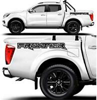 2 Nissan Frontier bed sides Vinyl Both Side Stickers Decals 4x4 Graphics 3