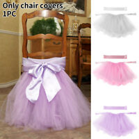 Dining Room Wedding Supplies Reusable Birthday Party Chair Skirt Home Decoration