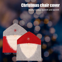 Party Supplies Dining Room Christmas Decoration Cartoon Santa Claus Chair Cover